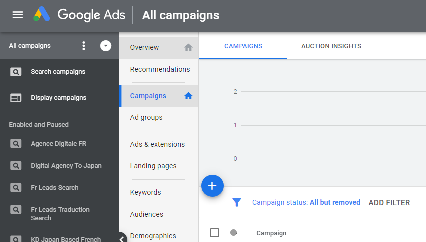 setting up a google ads account