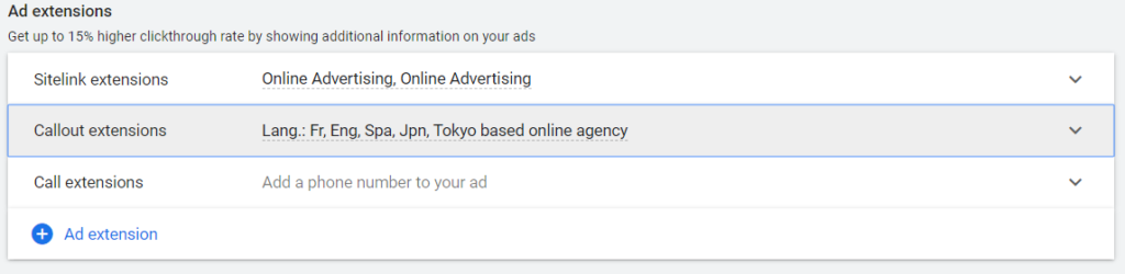 adwords search campaign setup