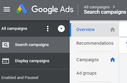 set up new adwords account